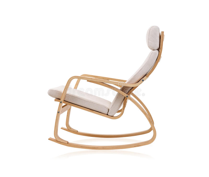 Modern rocking chair stock photography