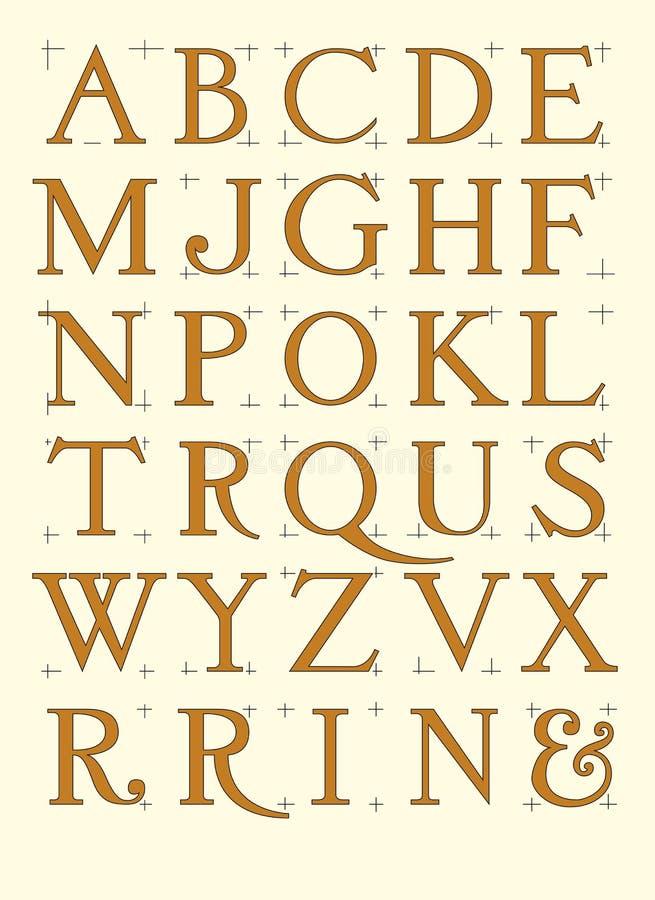 Modern roman alphabet stock vector illustration of