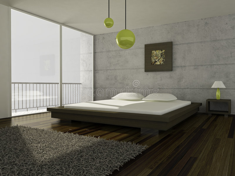 Modern room stock photo