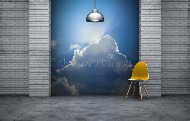 Download Modern room 1 stock illustration. Image of orange, wall - 31918407