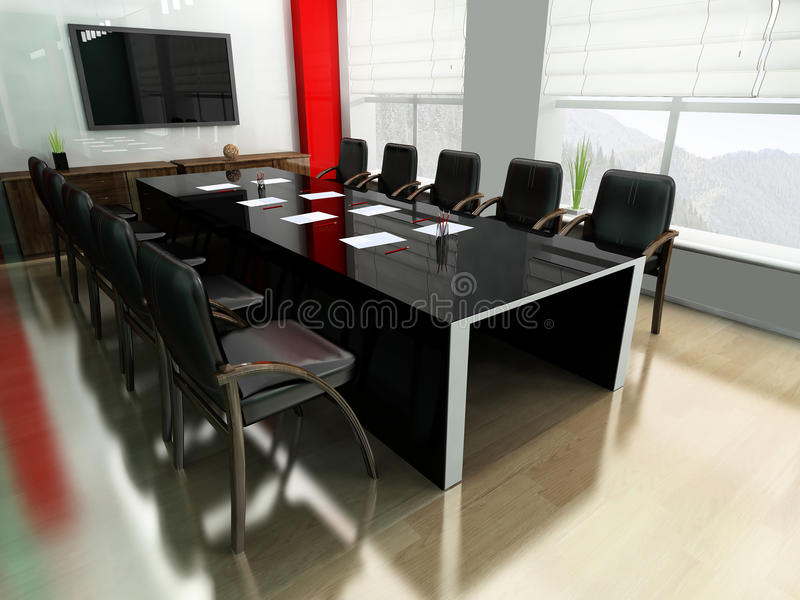 Modern room for meetings vector illustration