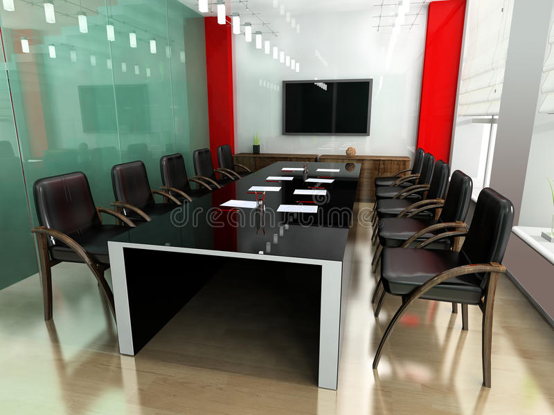 Modern room for meetings stock illustration