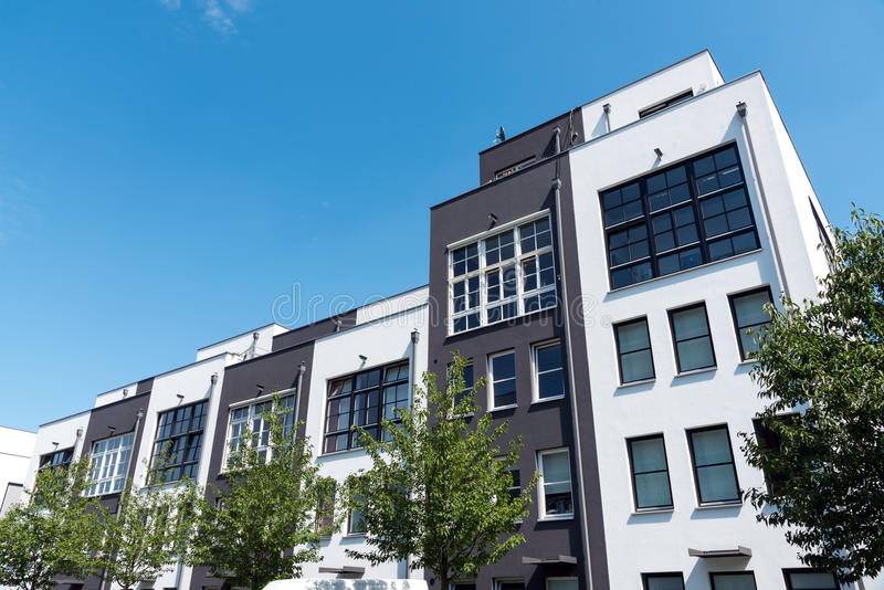 Modern row houses in Berlin royalty free stock images