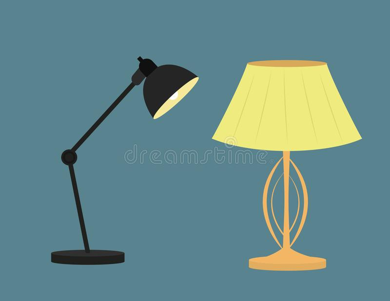 Modern royal lamp for bedroom and office vector illustration