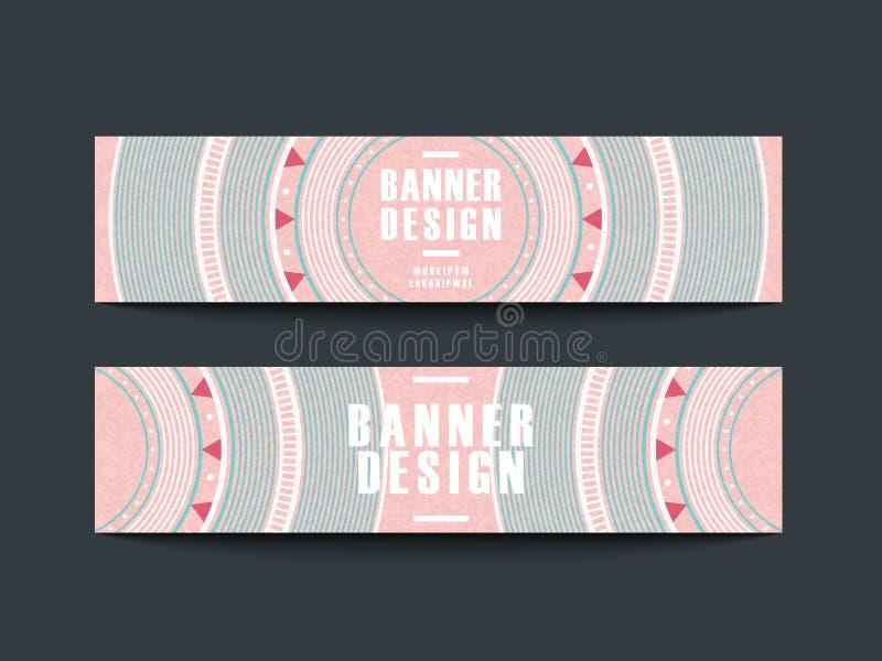 Modern roze vinylverslagontwerp voor banners royalty-vrije illustratie