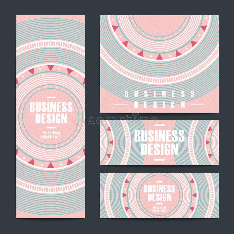Modern roze vinylverslagontwerp voor banners stock illustratie