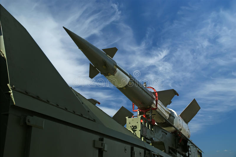 Modern Russian Anti-aircraft Missiles  5V27DE Royalty Free Stock Photos