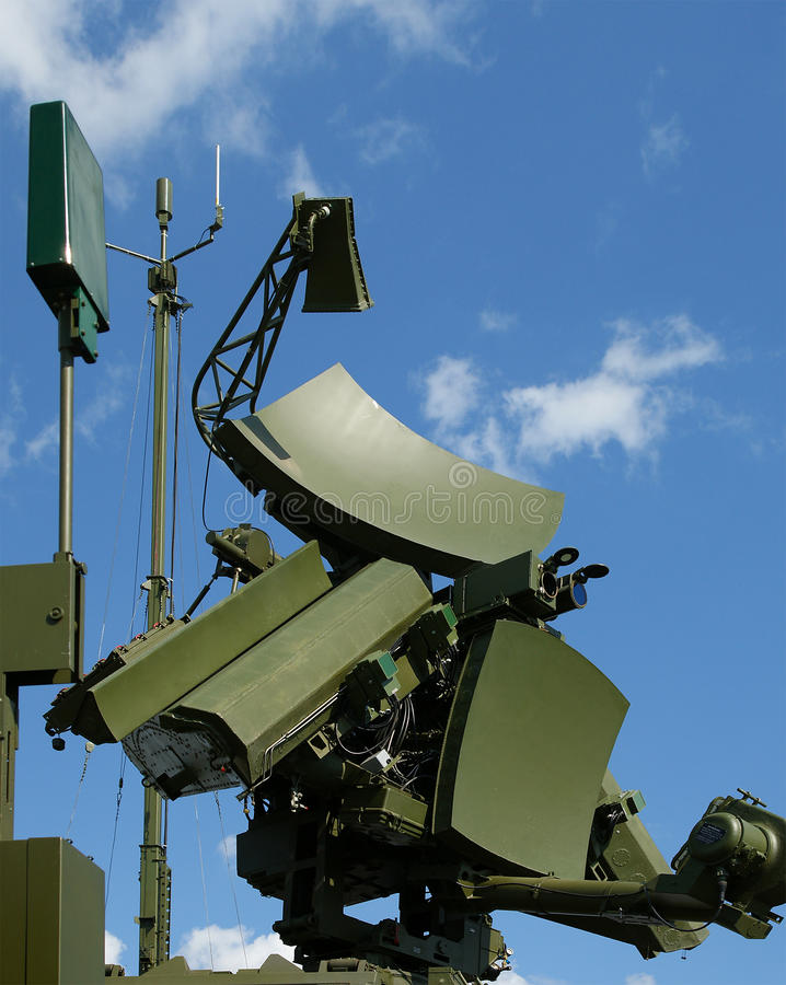 Modern Russian UNV-2V radar. Is designed and automatic tracking of targets and missiles royalty free stock photos