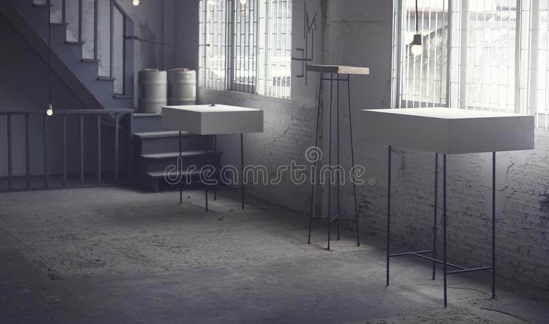 Modern rustic gallery stock images