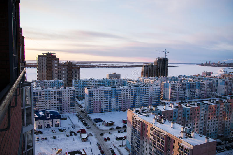 Modern rysk arkitektur av att sova områden arkivfoto