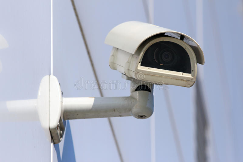 modern säkerhet för kameracctv-facade fotografering för bildbyråer