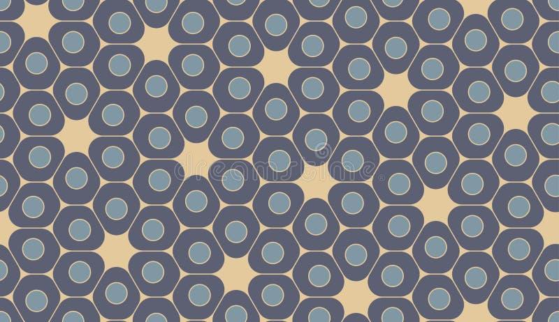 Modern sömlös färgrik geometrimodell för vektor, celler royaltyfri illustrationer