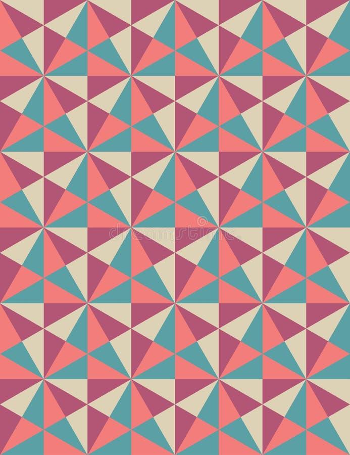 Modern sömlös färgrik geometrimodell för vektor, mosaik, rosa lilablått för färg, abstrakt begrepp vektor illustrationer