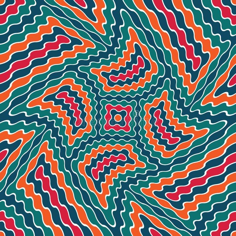 Modern sömlös färgrik kuslig geometrimodell för vektor, färgabstrakt begrepp royaltyfri illustrationer