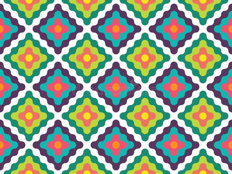 Modern sömlös färgrik ny geometrimodell för vektor royaltyfri illustrationer
