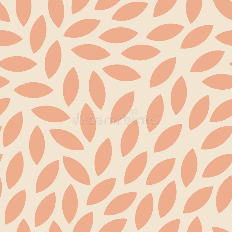 Modern sömlös höstmodell med orange sidor royaltyfri illustrationer
