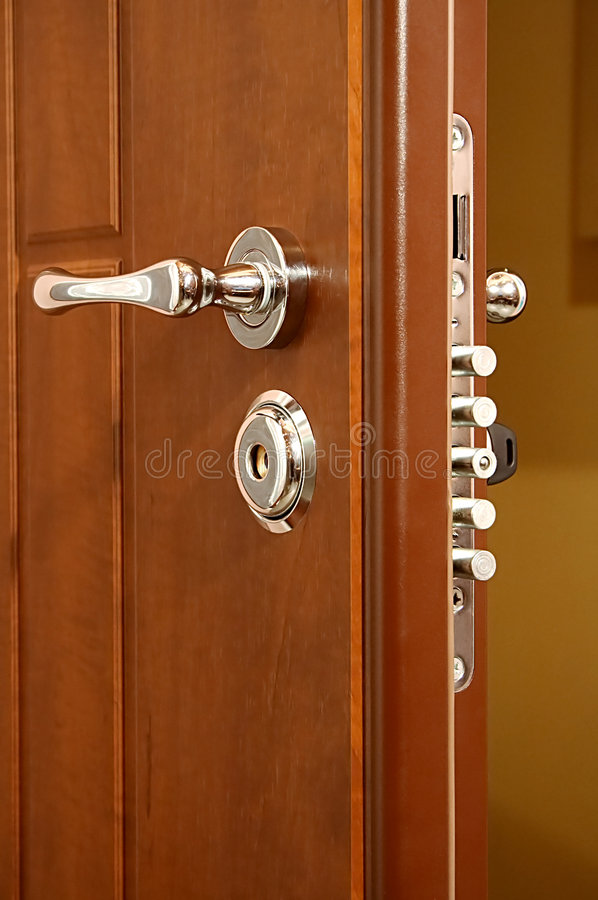 Modern and safe lock stock images