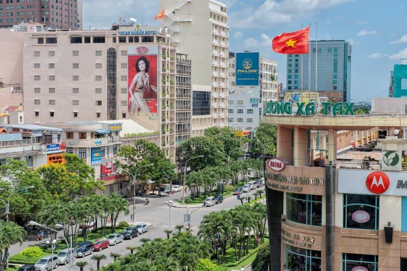 Modern Saigon stock images