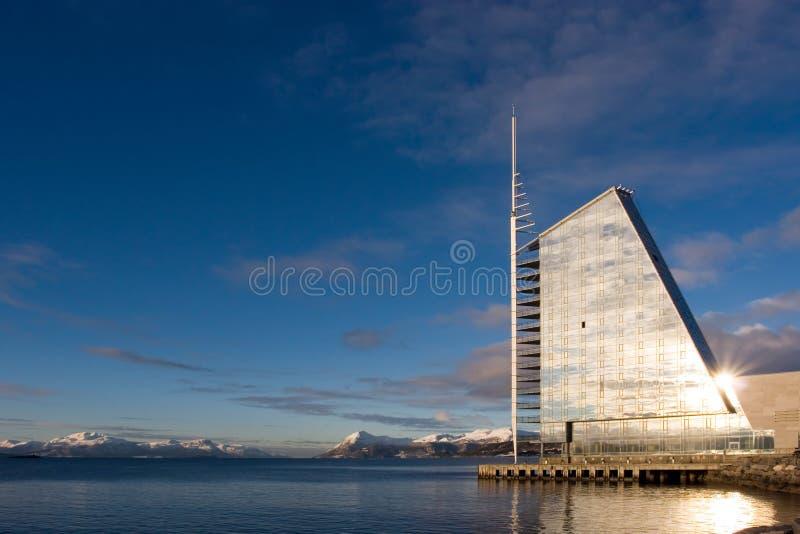 Modern sail shaped hotel stock photo