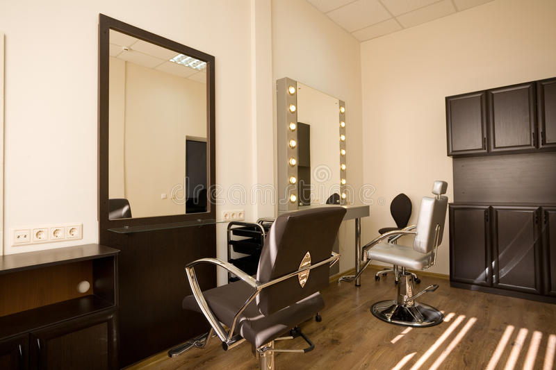 Modern salon make up artist and hairdresser stock photo for Armoire salon design