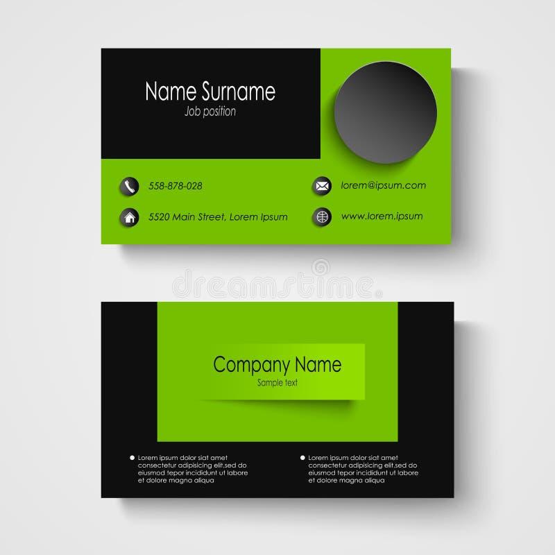 modern sample green business card template stock vector