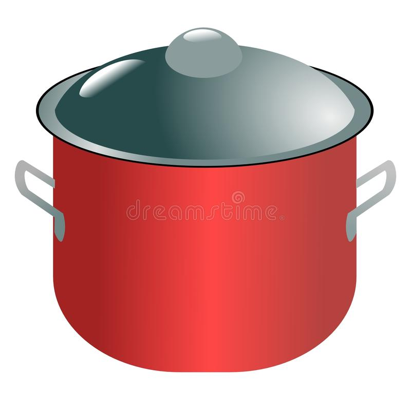 Modern saucepan. Vector colored illustration of modern saucepan royalty free illustration