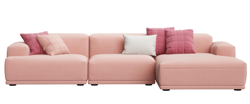 Modern scandinavian design sofa isolated on white background royalty free illustration