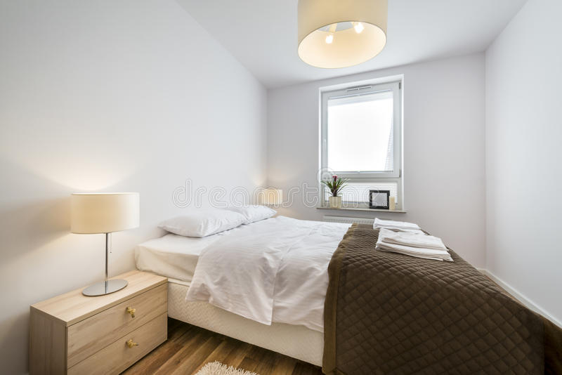 Modern Scandinavian Interior Design Bedroom Stock Image - Image of ...