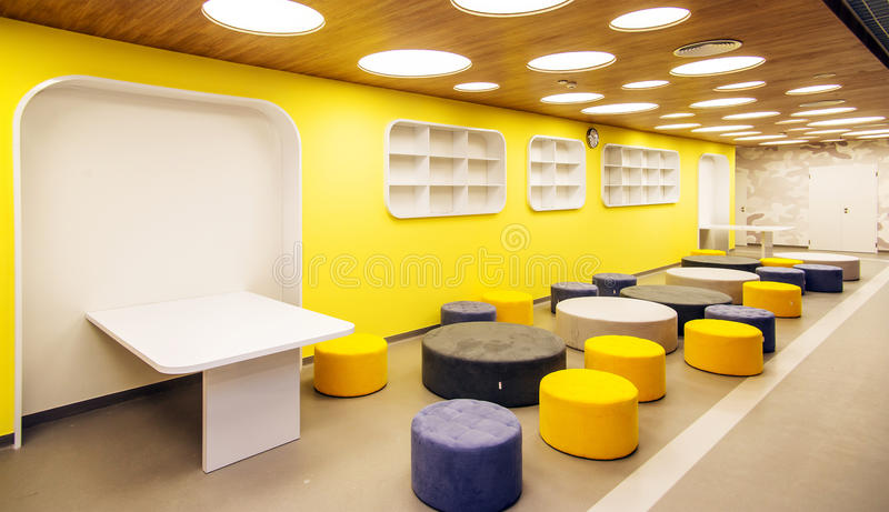 Modern school interior stock photo image of decoration for Design interieur cours