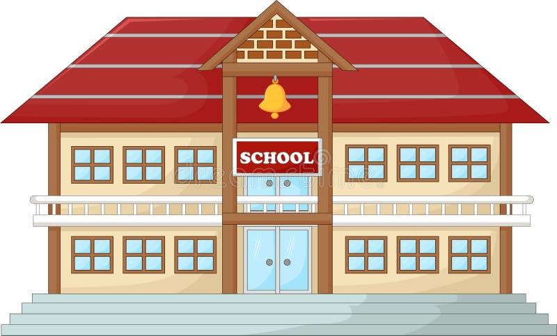 Modern schoolkarton royalty-vrije illustratie