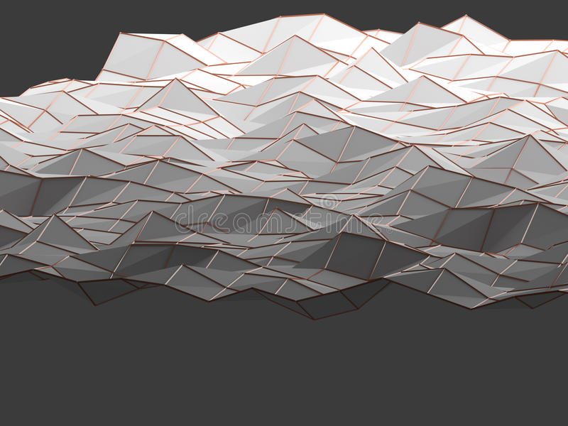 Modern science abstract polygonal geometric shapes background. royalty free stock photos