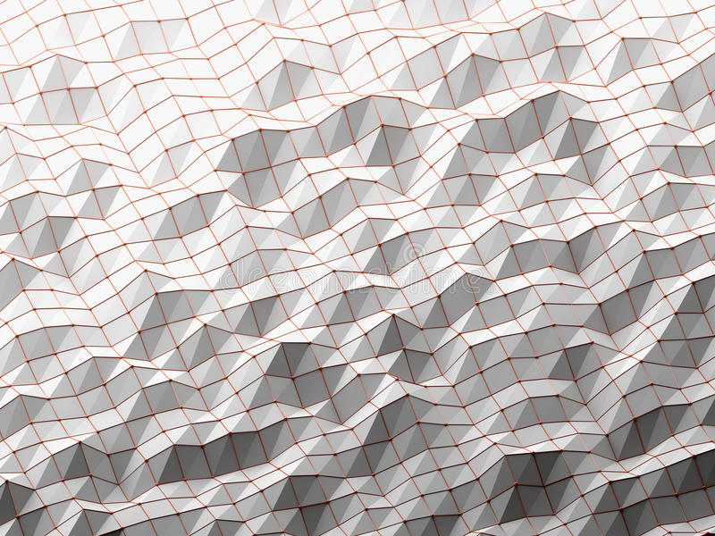 Modern science abstract polygonal geometric. royalty free stock photo