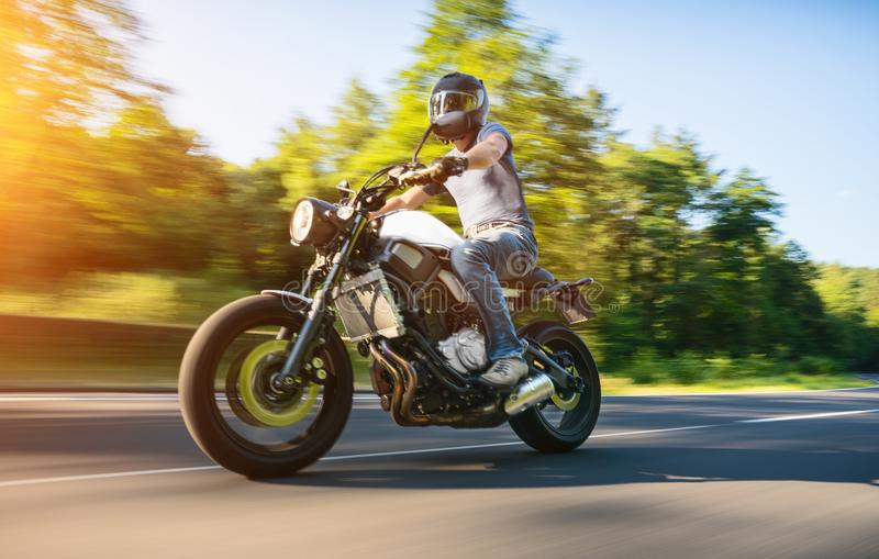 Download Motorbike On The Road Riding Having Fun Empty O Stock Photo