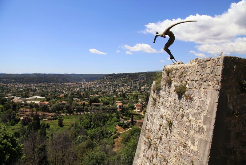 Modern sculpture, Saint-Paul-de-Vence, Provence, France. stock images