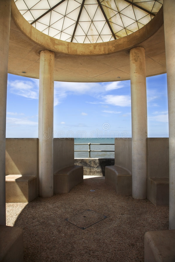 modern seafront för arkitektur fotografering för bildbyråer