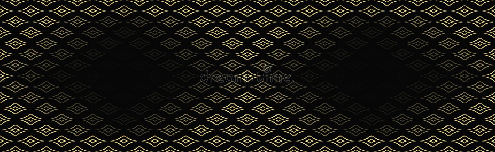 Modern, seamless background for advertising, packaging with space for text. gold glitter, gorgeous color, lines, patterns in a. Golden gradient, luxurious wavy royalty free illustration