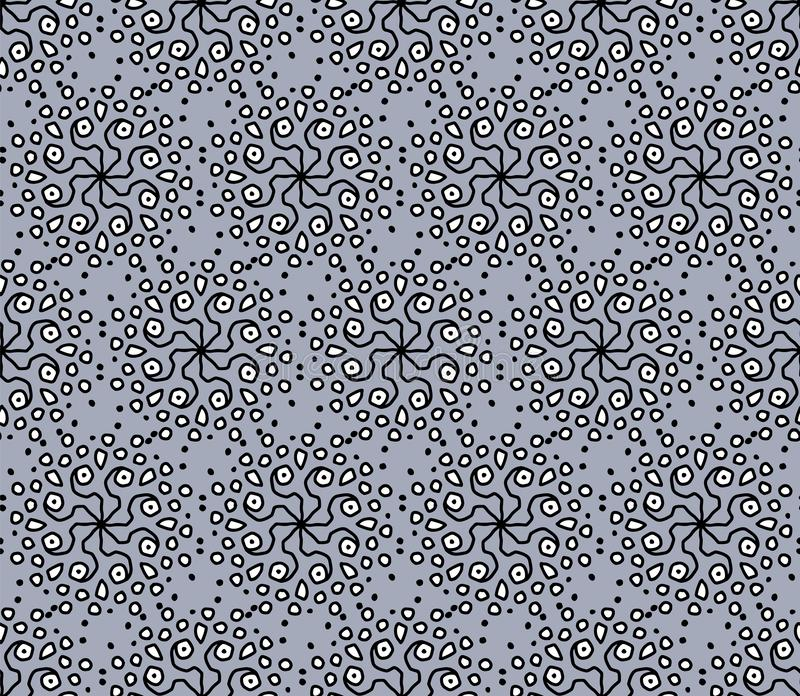 Modern seamless gray pattern with ethnic ornaments stock illustration