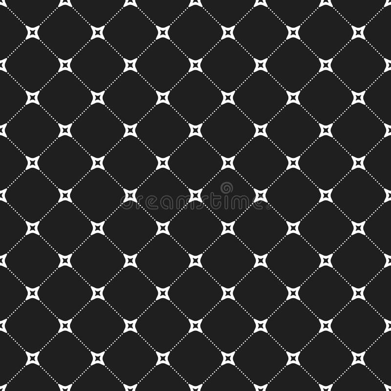 Modern Seamless Pattern. Geometric repeating pattern. Seamless abstract modern texture for wallpapers and backgrounds. Black and white pattern stock illustration