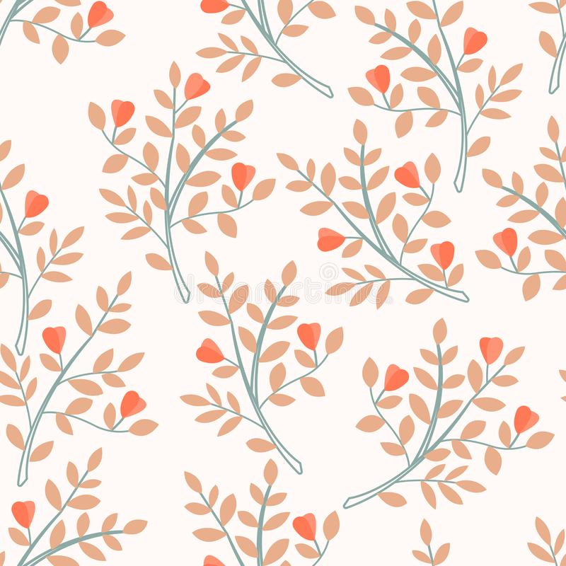 Modern seamless pattern with leaves elements. Autumn pattern design. Good for printing, fabric, textile. vector illustration