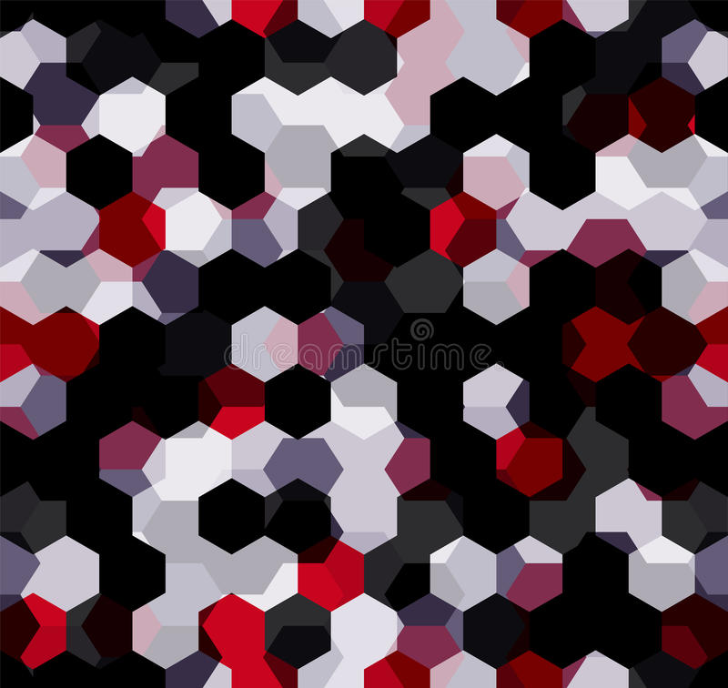 Modern Seamless pattern of polygons multicolor abstract geometric background. stock illustration