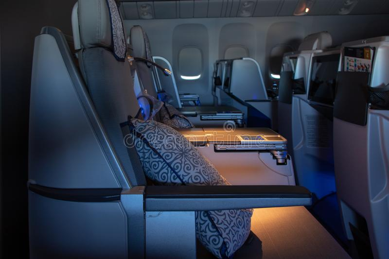 Business Class Seats In Airplane Stock Image Image Of