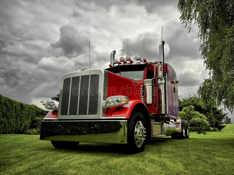 Modern Semi Truck royalty free stock photos