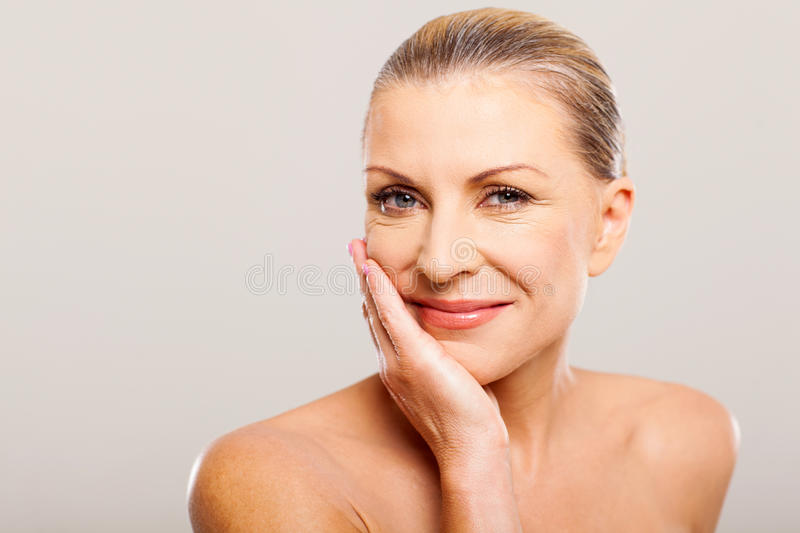 Modern senior woman royalty free stock photos