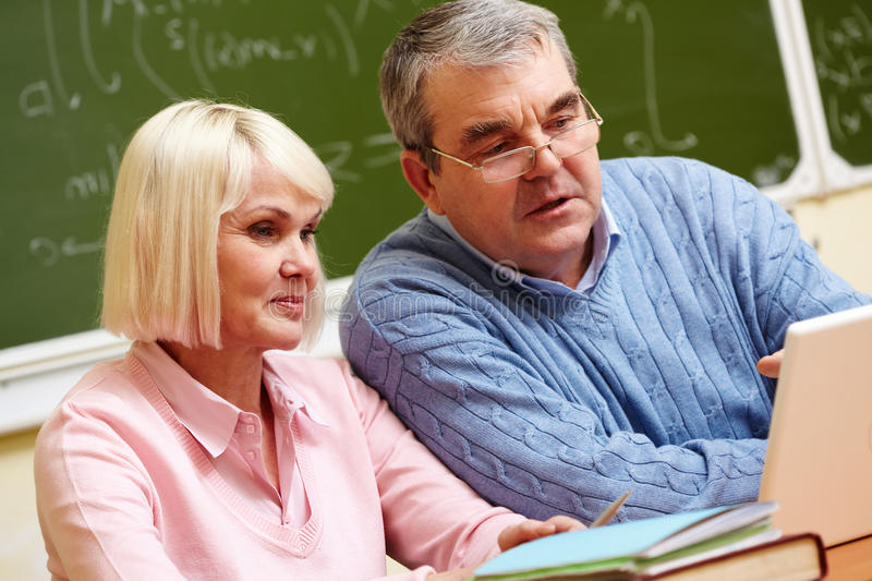 Download Modern seniors stock photo. Image of learning, husband - 34412358