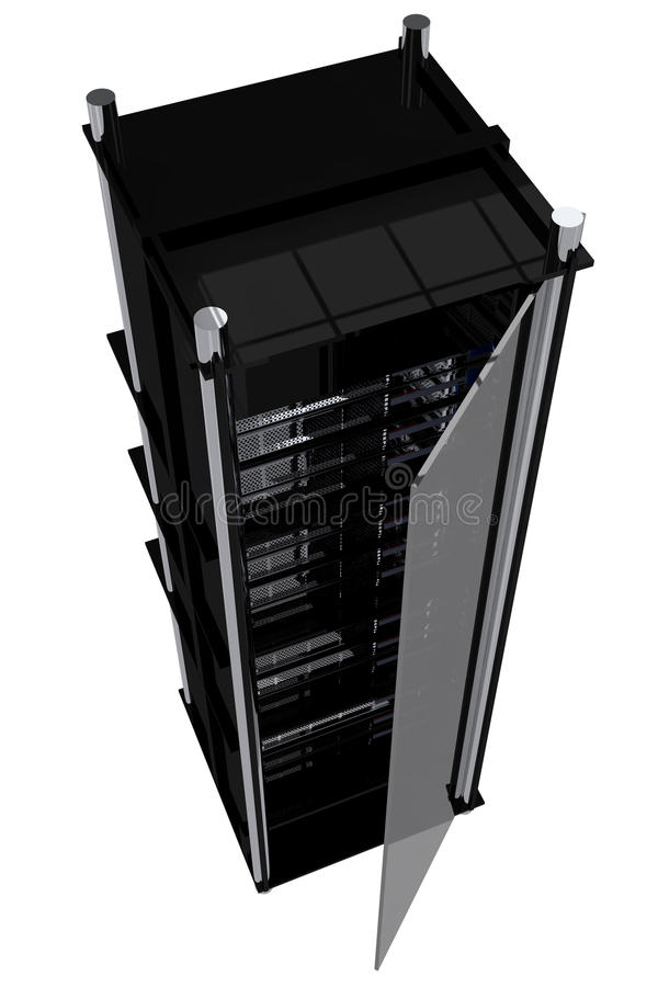 Modern Servers Rack stock illustration
