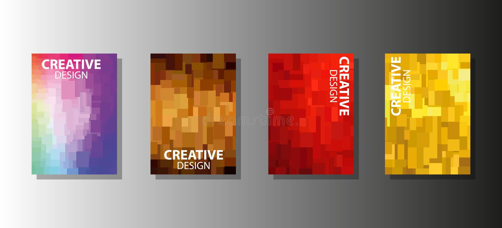 A modern set of abstract covers and backgrounds for your design stock illustration