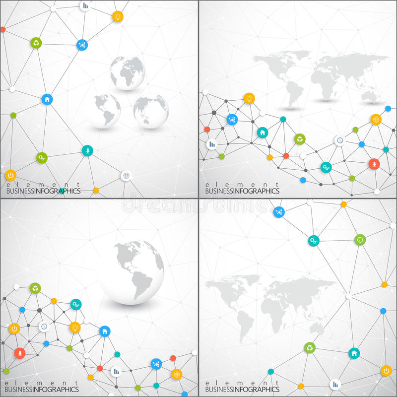 Modern Set Of Infographic Network Vector Template   Can Be