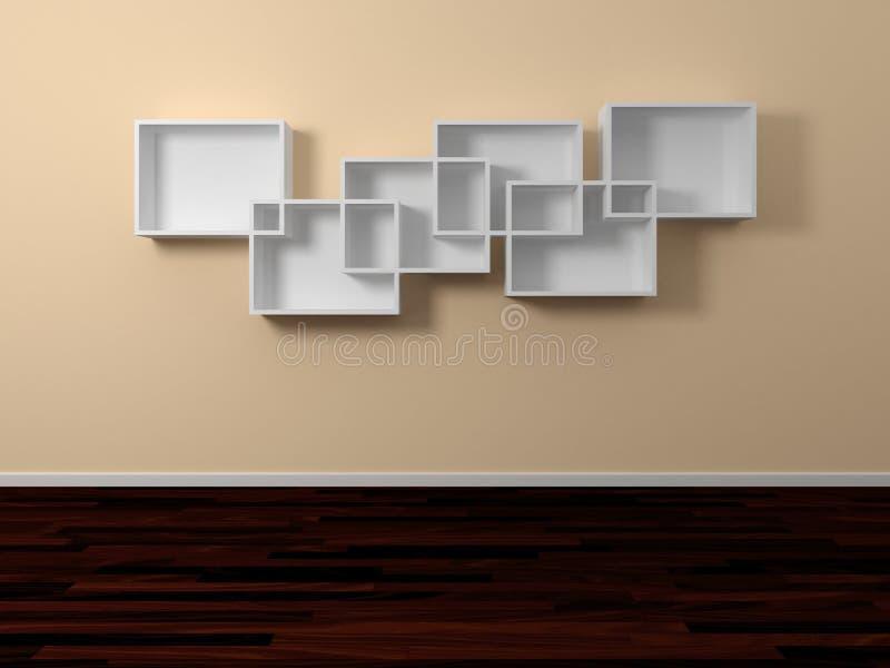 Download Modern Shelves. Stock Image - Image: 25121161