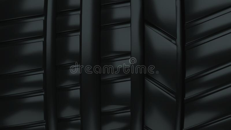 Modern and shiny car black wheel tire surface, 3d rendering computer generated backdrop. Modern and shiny car black wheel tire surface, 3d rendering computer vector illustration