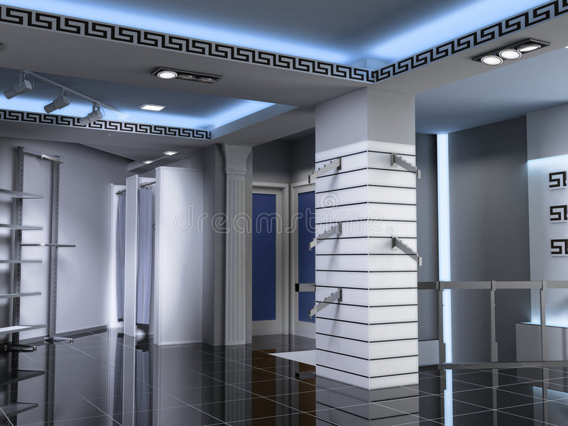 Modern Shop Interior stock image